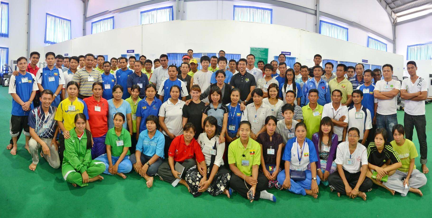 ミャンマー代表トレーニング指導 inミャンマー(2012)