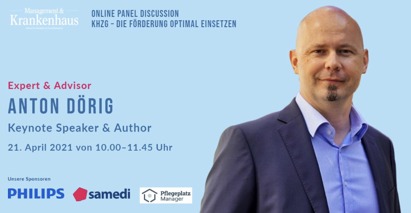 Anton Dörig moderiert für Management & Krankenhaus / Wiley