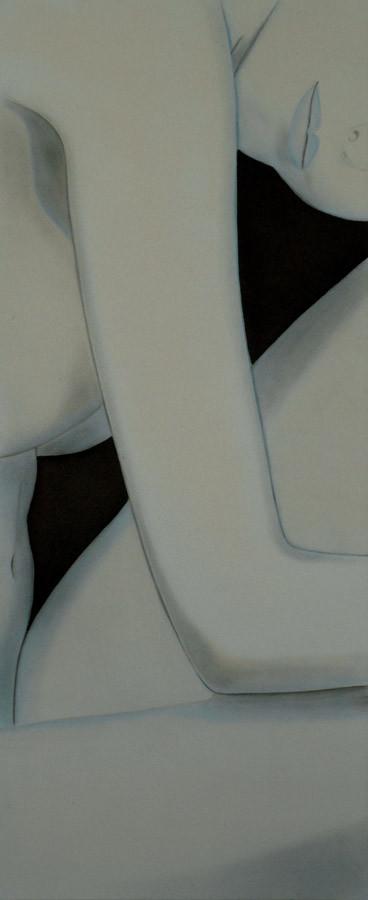 """Teilansicht Figur"" - Sonny Lindgens - Acryl/Kohle, 50 x 120 cm - 2008"