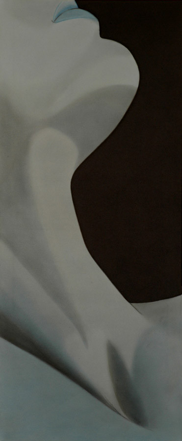 """Teilansicht Porträt"" - Sonny Lindgens - Acryl/Kohle, 50 x 120 cm - 2008"