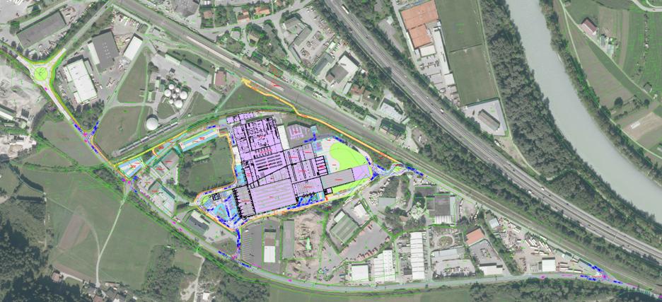 Geh- und Radwege Gewerbegebiet Zirl-Inzing