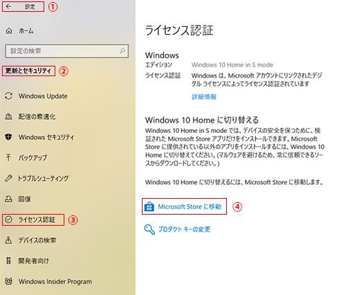 Window10(Sモード)の解除
