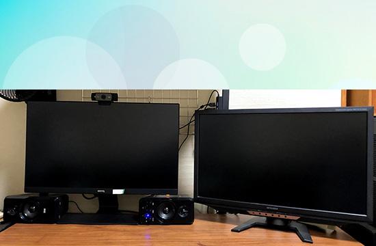 2画面の作業環境例