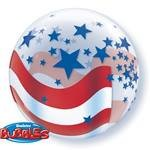 Bubble Balloon USA Stars and Stripes