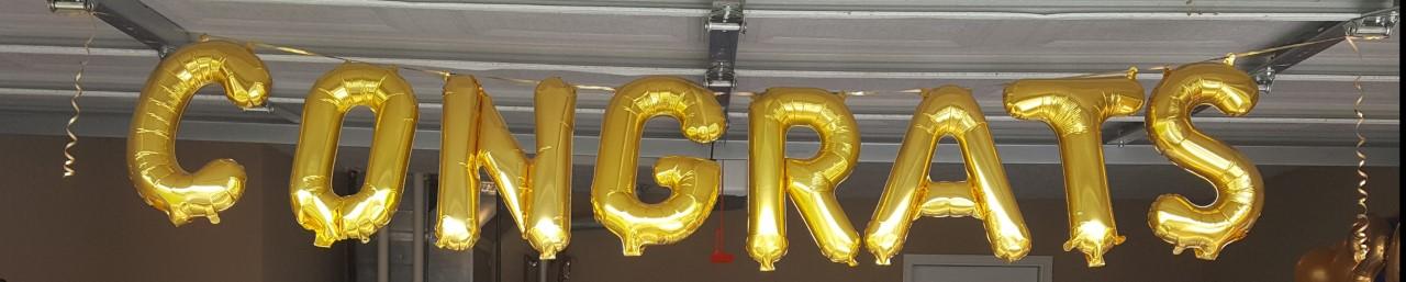 Air-Filled Balloons Congrats Banner