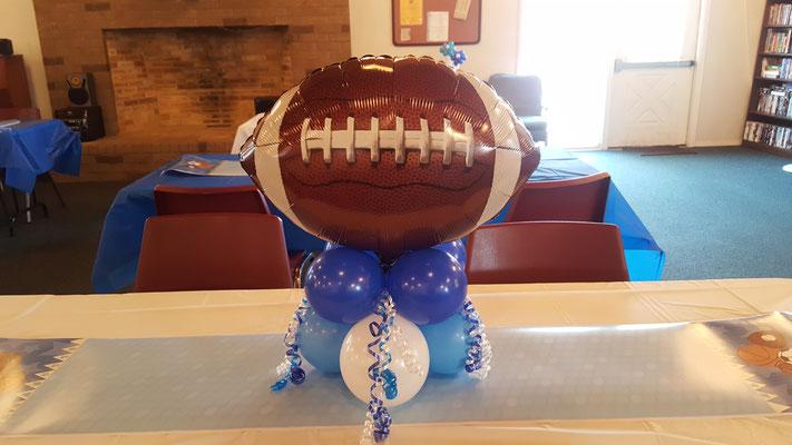 Air-Filled Balloon Centerpiece Sports Football