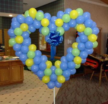 Air-Filled Balloon Wedding Heart