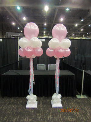 Air-filled balloon cloud wedding pink white