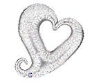 Small Foil Balloon Silver Heart