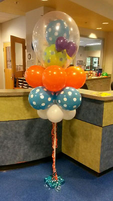 Air-filled balloon cloud