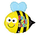 Small Foil Balloon Get Well Soon Bee