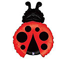 Small Foil Balloon Lady Bug