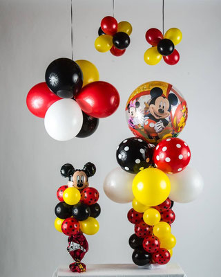 Air-Filled Balloon Centerpiece Clusters Mickey Mouse