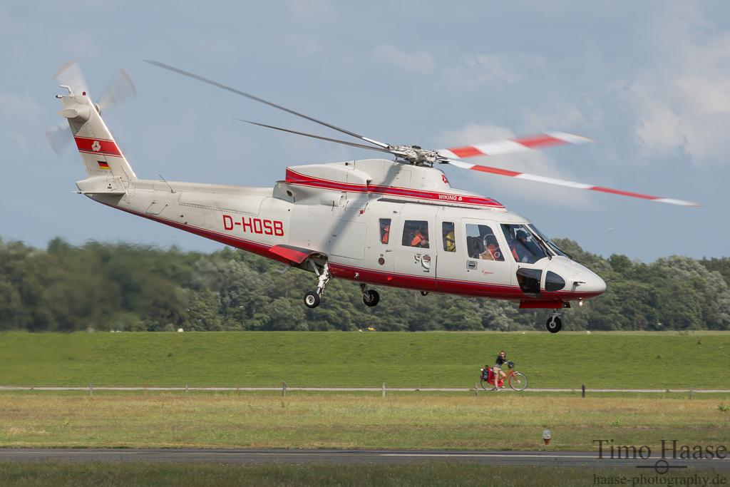 06.07.15 Sikorsky S76A ( D-HOSB ) der Wiking Helikopter Service GmbH