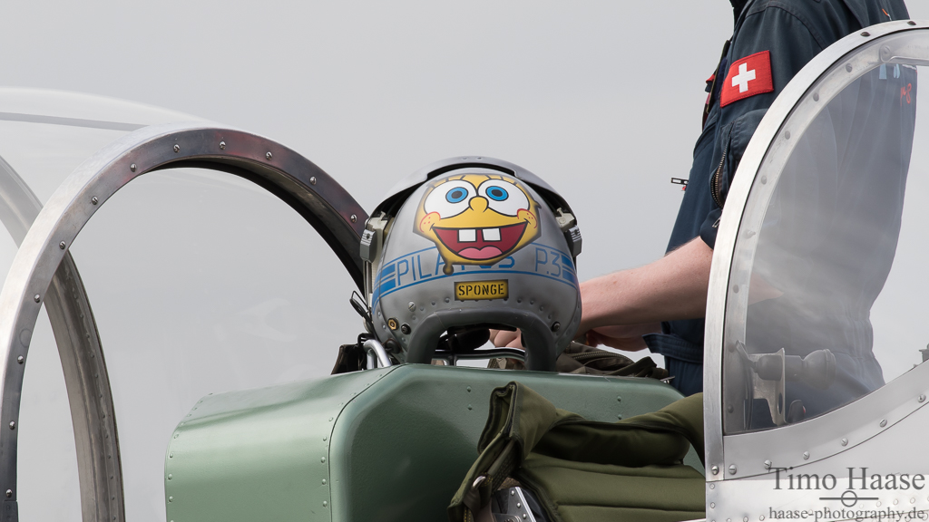 Pilatus P-3 Display Team Helm design