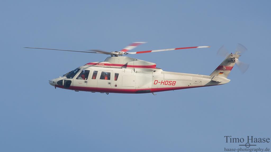 07.11.14 Sikorsky S76A ( D-HOSB ) der Wiking Helikopter Service GmbH