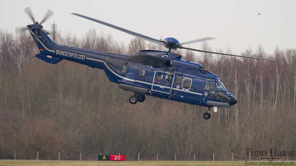 06.03.12 Aérospatiale AS 332L1 Super Puma ( D-HEGE ) der Bundespolizei