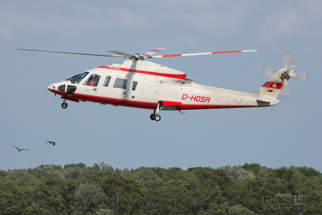 06.07.15 Sikorsky S76A ( D-HOSA ) der Wiking Helikopter Service GmbH