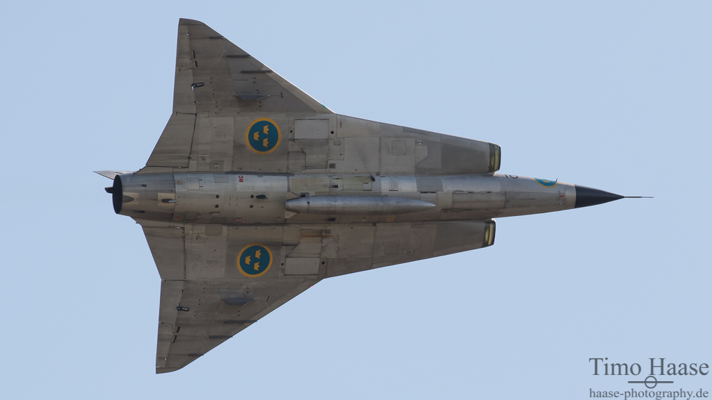 SAAB SK 35C Saab 35 Draken der Swedish Air Force Historic Flight