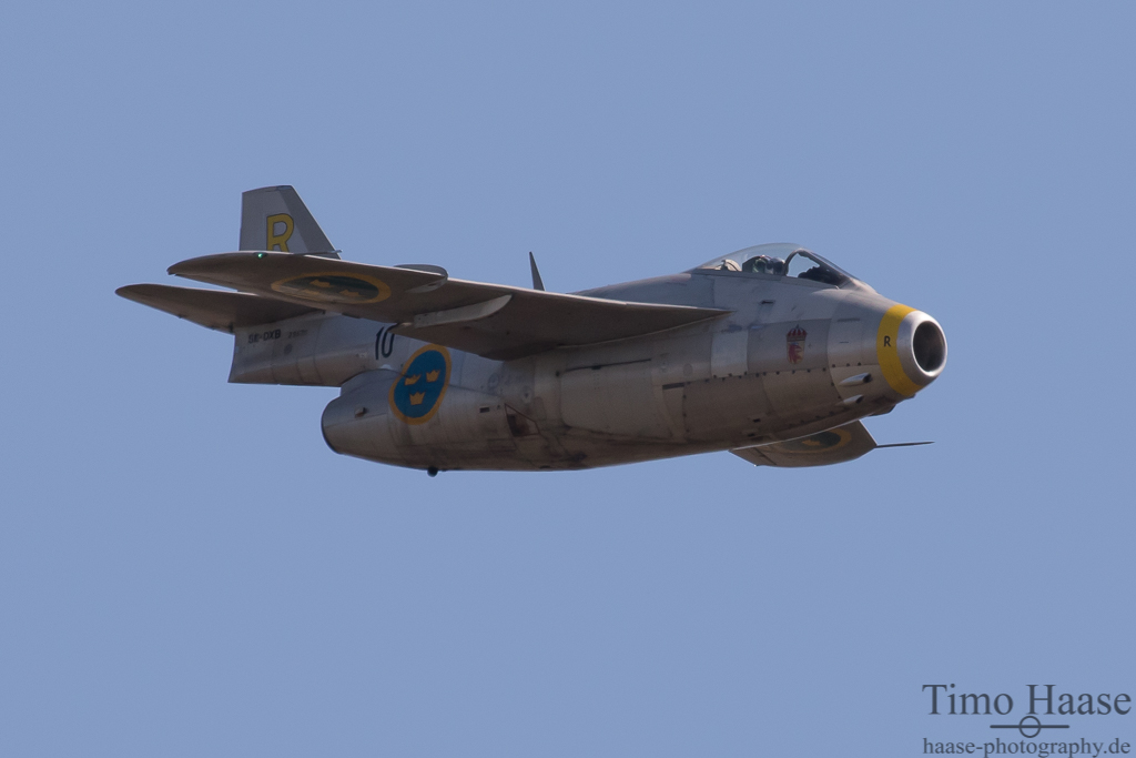 SAAB J-29 Tunnan der Swedish Air Force Historic Flight