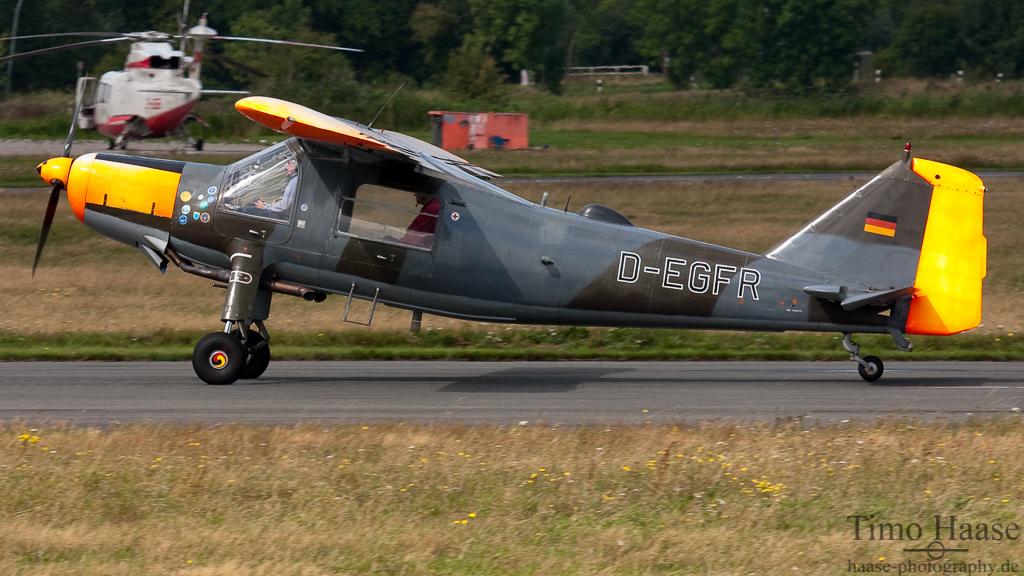 25.08.10 Dornier DO-27 ( D-EGFR ) der Sportfluggruppe Nordholz/Cuxhaven