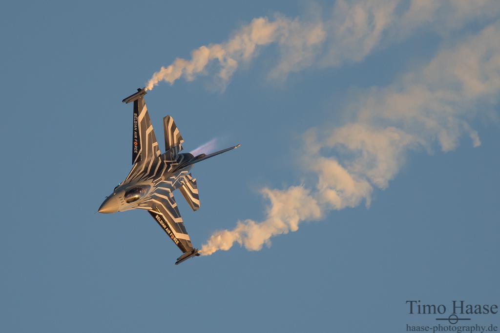 Die belgische Demomaschine. F-16MLU FightingFalcon  FA-123