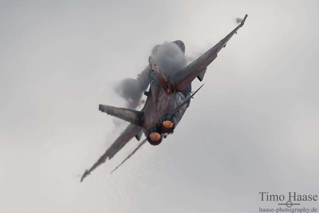 """F-18 """"Hornet"""" der spanischen Luftwaffe. 15-28  Tiger."""