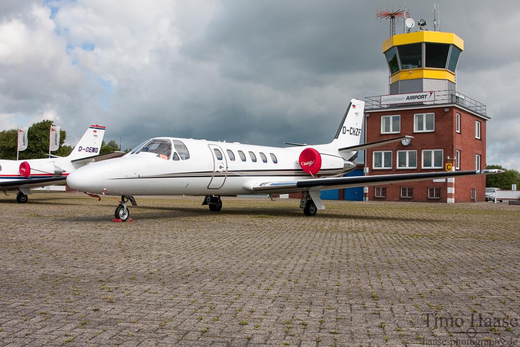 25.08.10 Cessna 550B Citation Bravo ( D-CHZF ) vom Stuttgarter Flugdienst (SFD)