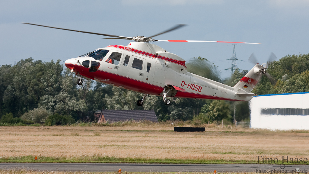 24.08.10 Sikorsky S76A ( D-HOSB ) der Wiking Helikopter Service GmbH