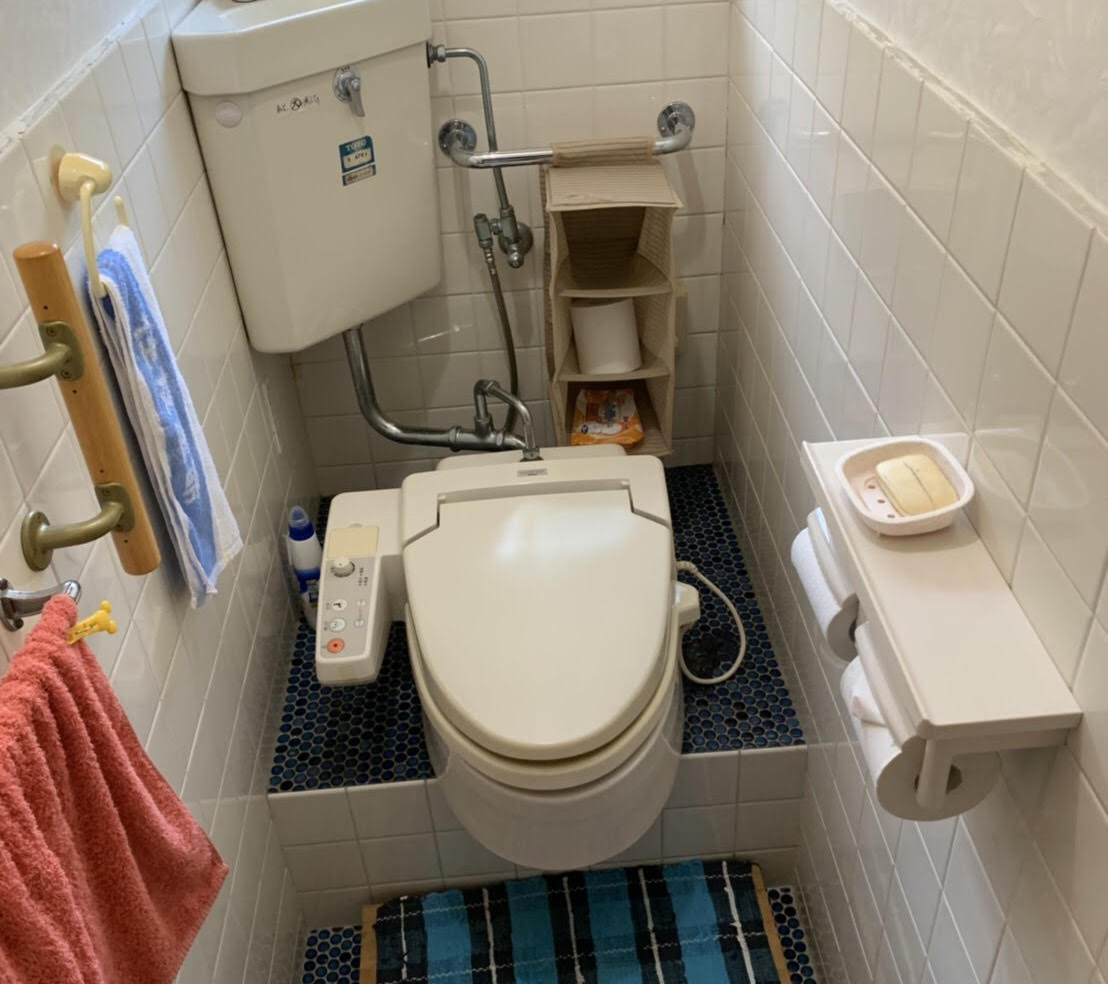 トイレの和式から洋式への変更リフォーム工事(徳島市)