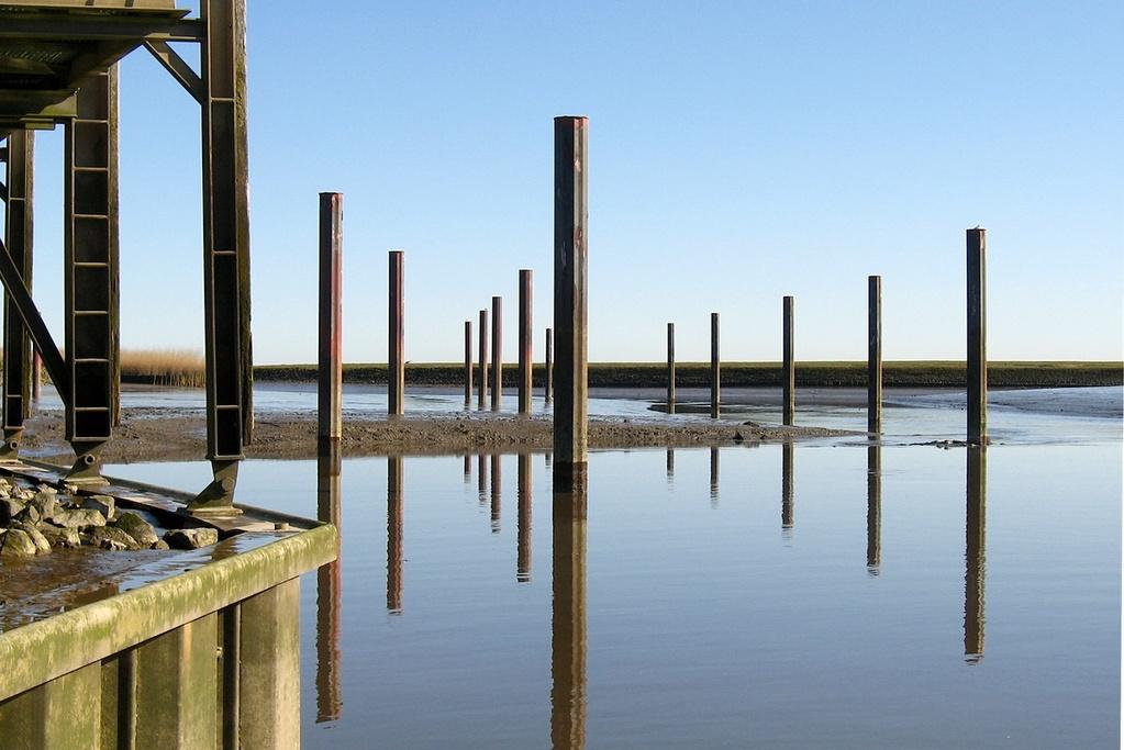 Ostern 2012 Nordschlengelbereich z.Zeit bis ca 1m Schlick bei MNW