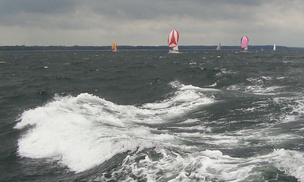 23.6. - Spikurs bei starkem Wind - Rückregatta Eckernförde - Kiel