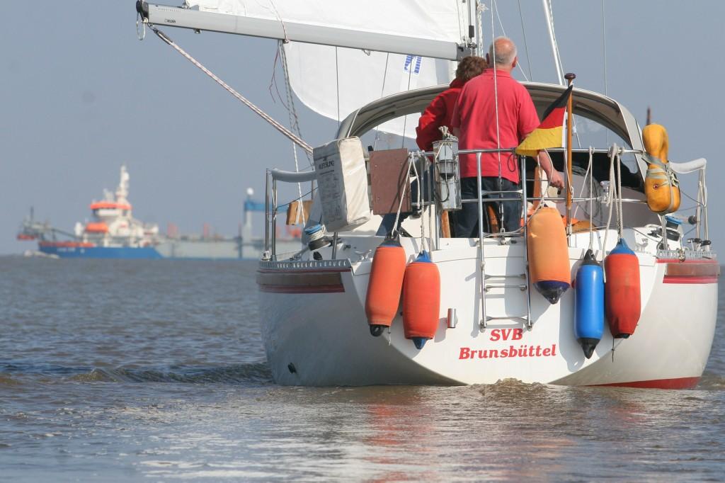Ende April 2010 Der SVB mit 7 Booten in Otterndorf Foto: Lutz Lühmann