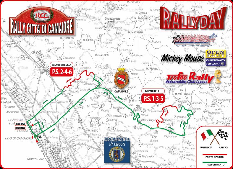 cartina prove speciali 21° rally città di camaiore