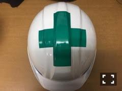 ヘルメット加工「天頂十字」