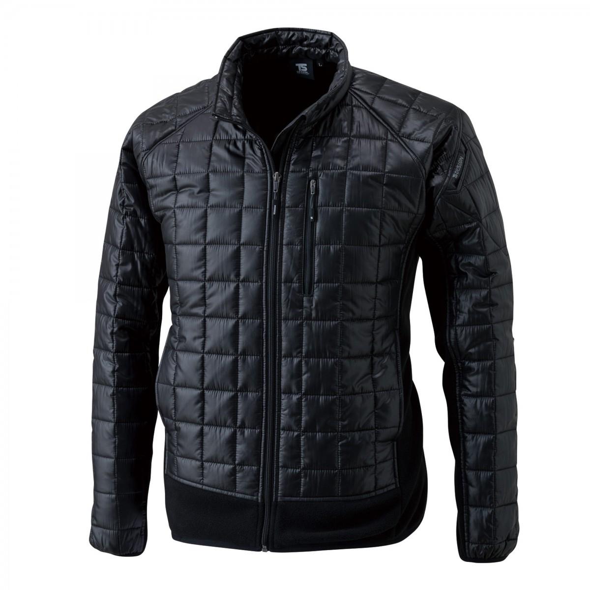 TS DESIGN  4226 マイクロリップロングスリーブジャケット  95  ブラック