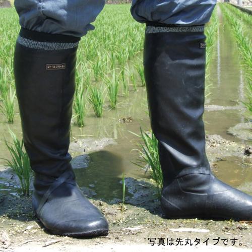 田植え長ぐつ みのるくん 先丸 足にしっかりフィットして履きやすいです。
