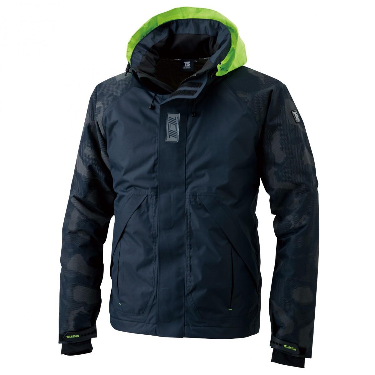 TS DESIGN  18236 メガヒートフラッシュ防水防寒ジャケット 45 ネイビー