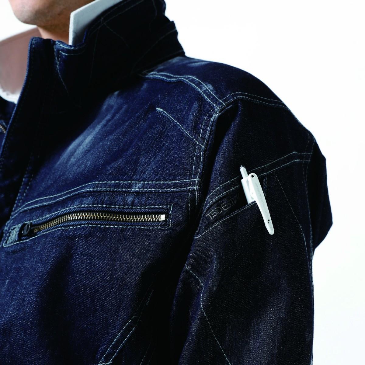 TS DESIGN 5116 ジャケット ¥4,950(税込)左腕のマルチポケット。スマホ対応の便利なポケットです。