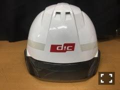 ヘルメット加工「会社のマーク」