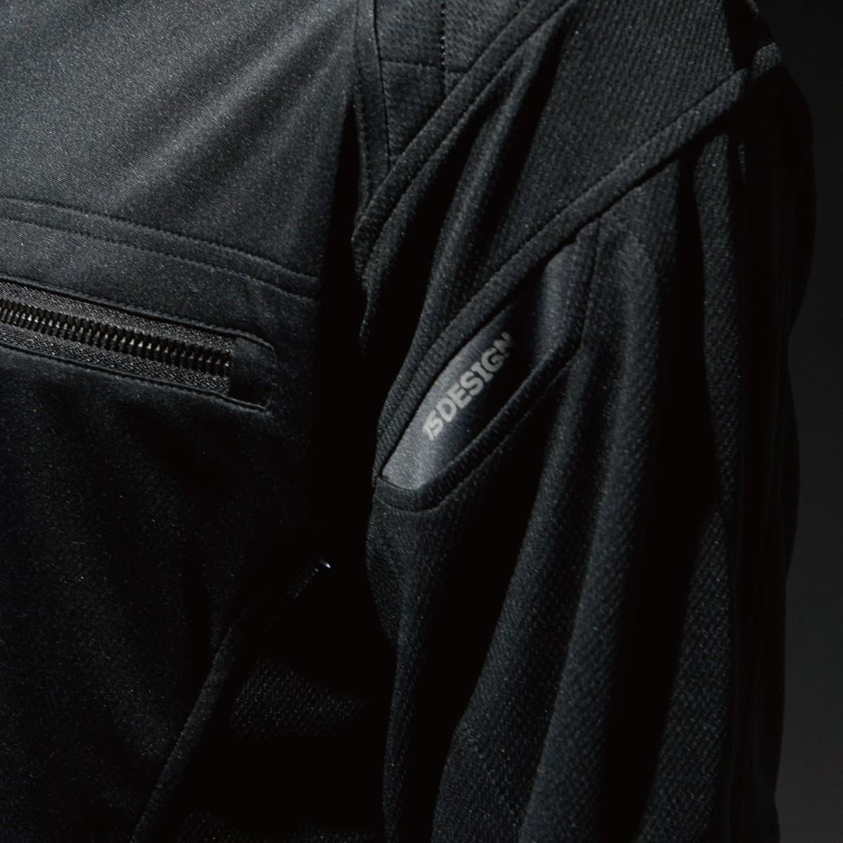 846305 ワークニットロングシャツ 左腕 スマホ対応のマルチポケットで便利です。