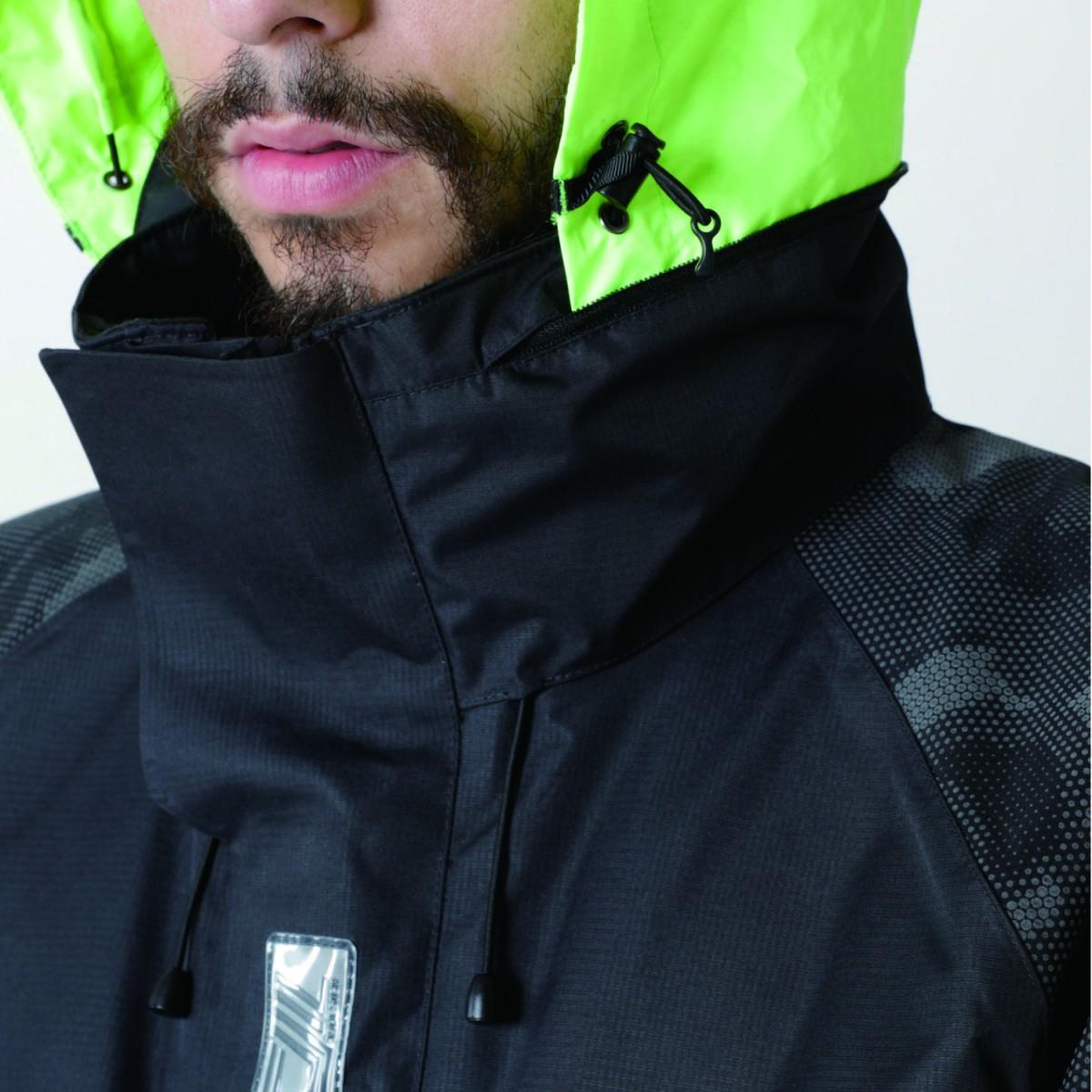 TS DESIGN  18236 メガヒートフラッシュ防水防寒ジャケット フードは調整可能です。