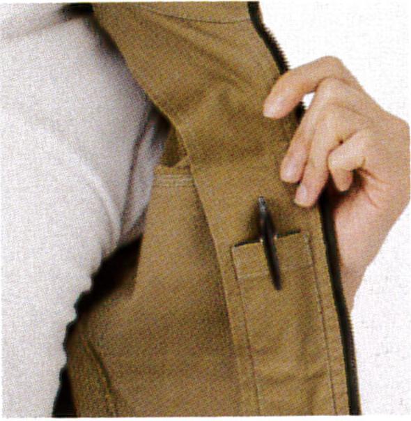 EVEN RIVER~イーブンリバーERX-207 ブルゾン 内側ペン差し対応ポケット。