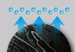 4039 ホットフィッテッド  吸汗速乾素材を採用。