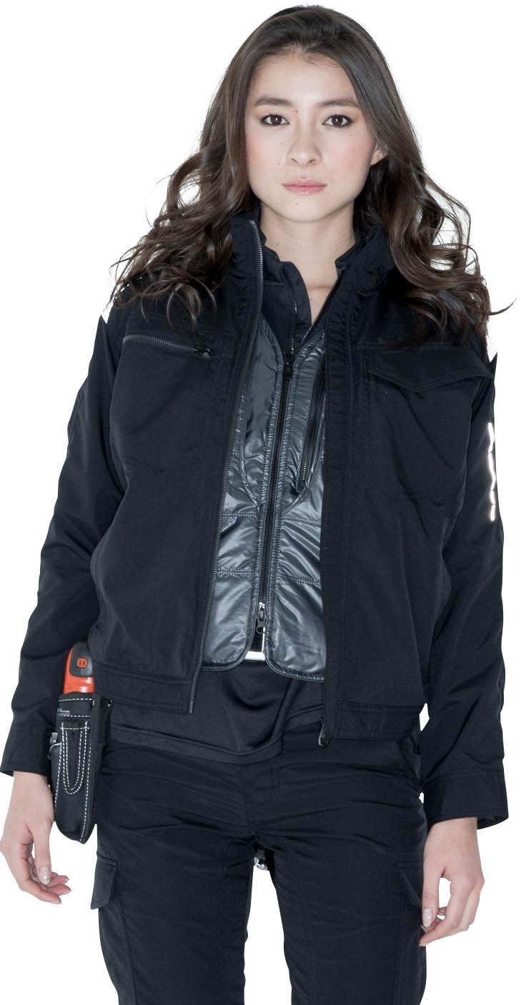 TS DESIGN WORK JACKET 84626 SERIES  女性が着てもシルエットが最高ですね。