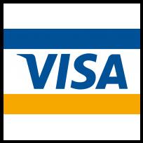 5大ブランドのクレジットカード利用できます。VISA