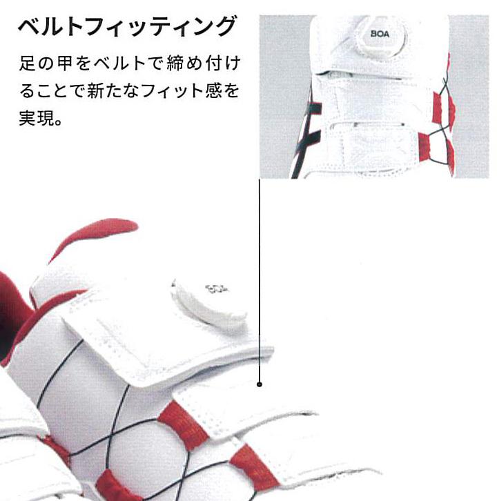 CP307 BOA は、足の甲に2本のベルトを採用。足のフィット感が抜群です。