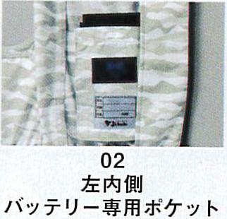 Z-DRAGON~ジードラゴン~の74070  空調服ベスト 位置と大きさがちょうどいいバッテリー用ポケット!!