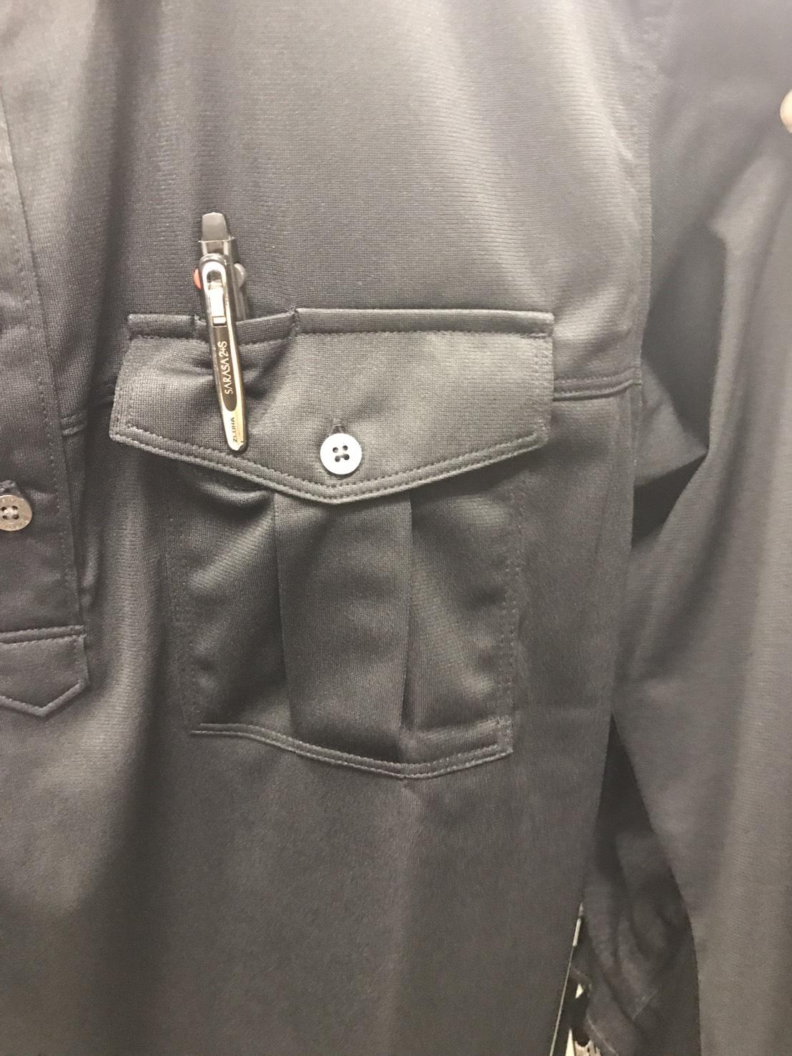 BURTLE~バートル~705 ワークシャツ。左胸ペン差しポケット!!