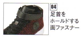 Z-DRAGON S1173  ハイカット安全スニーカー マジックテープで、足首をしっかりホールドします。